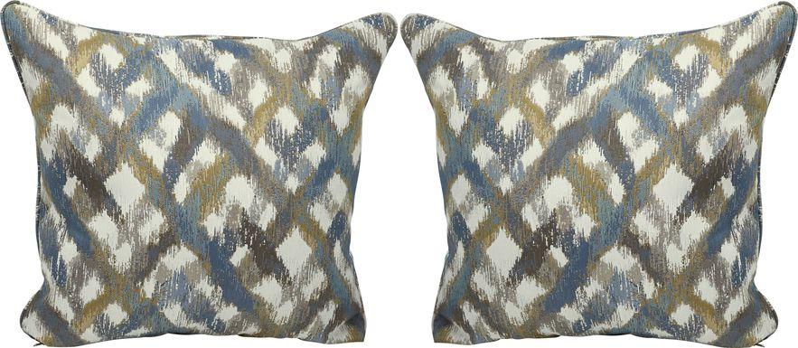 Color Splash Indigo Accent Pillows (Set of 2)