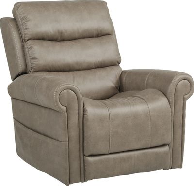 Colson Street Beige Power Recliner