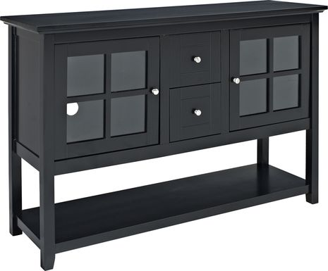 Columby Black Buffet 52 in. Console Table