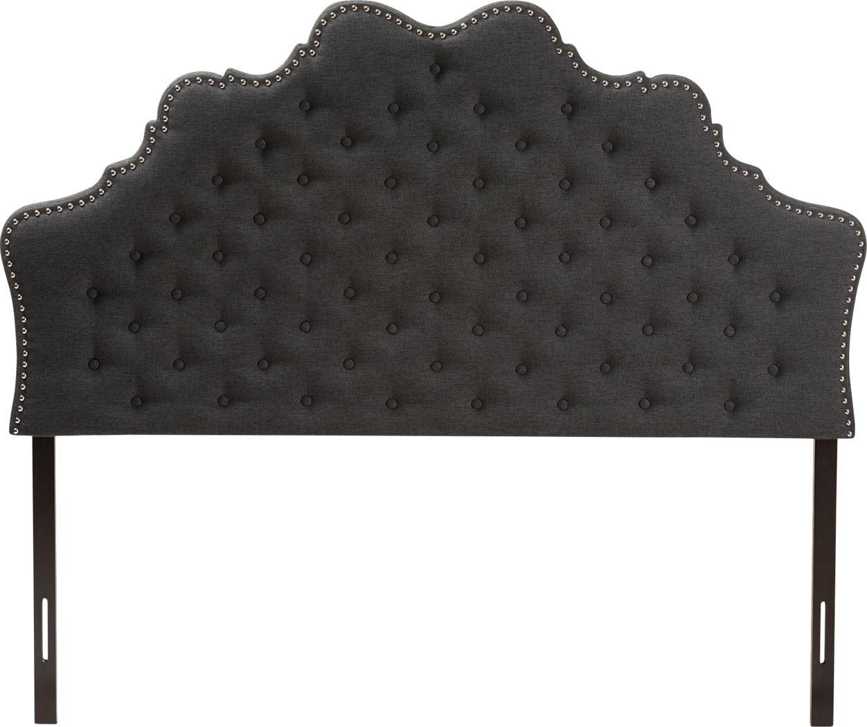 Conagra Charcoal King Upholstered Headboard