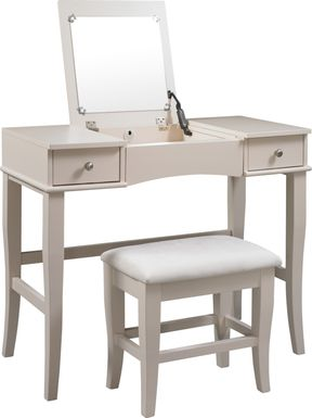 Connie Mae Vanity, Mirror and Stool Set