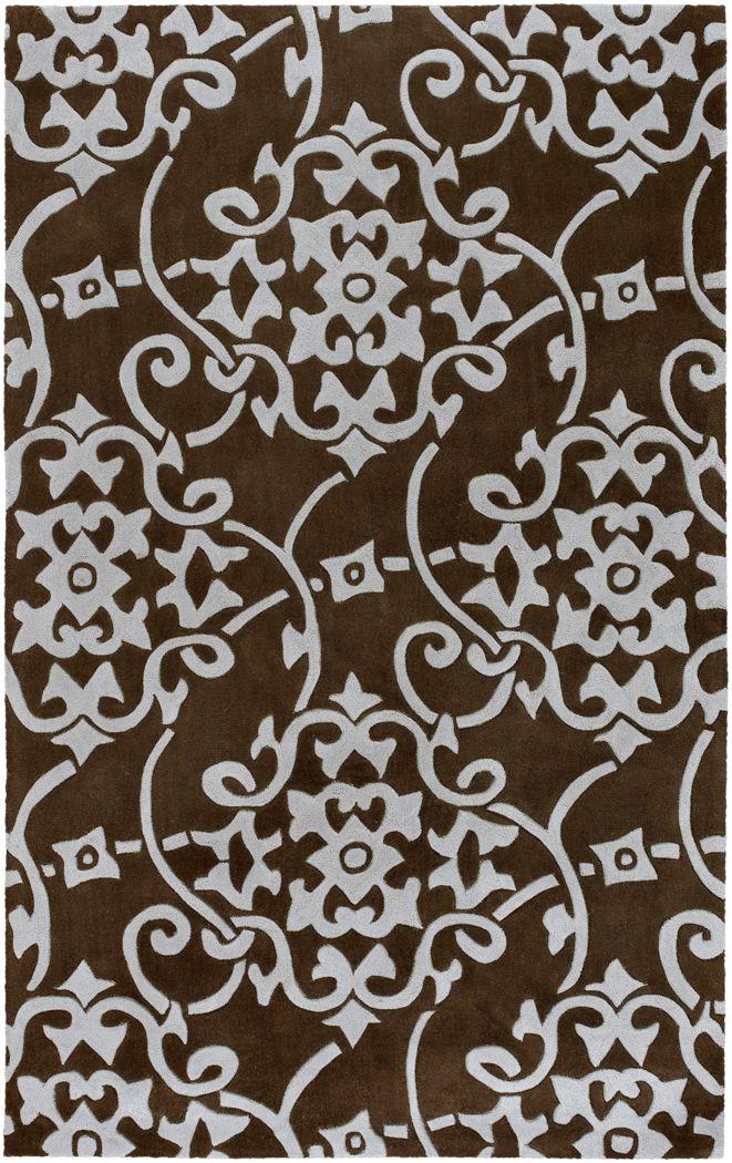 Contemporary Brown 8 x 11 Rug