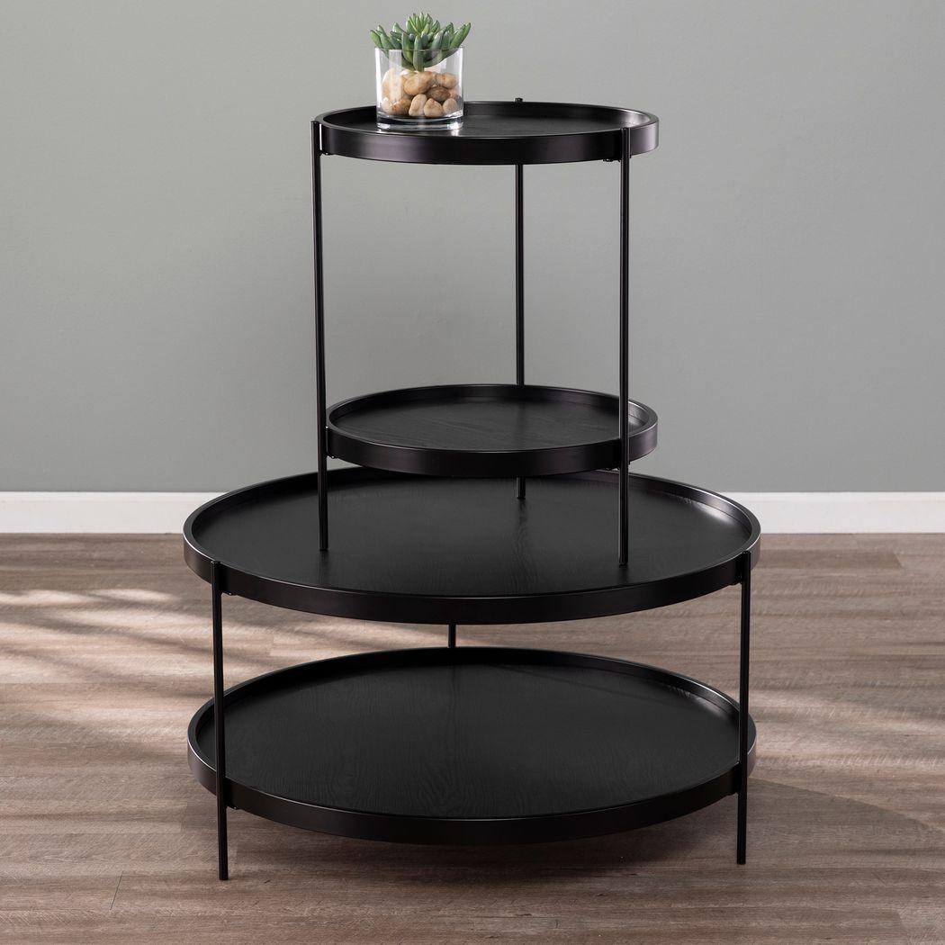 Round Black Tables