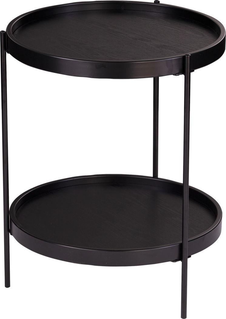 Coolfont Court Black End Table