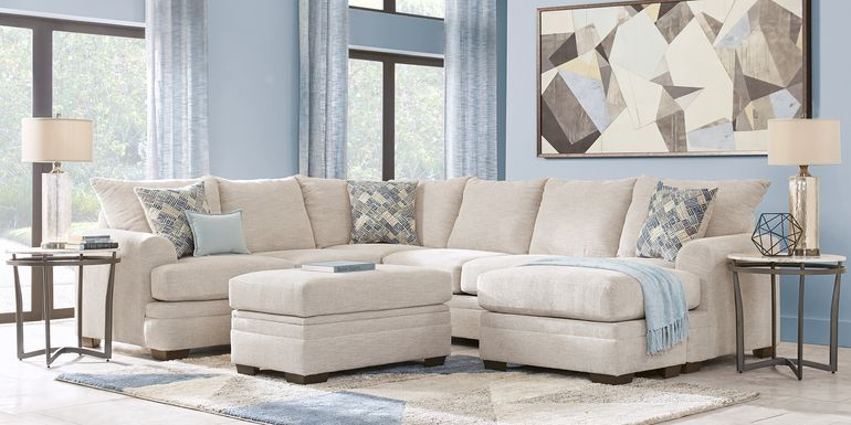 Copley Court Parchment 2 Pc Sleeper Sectional