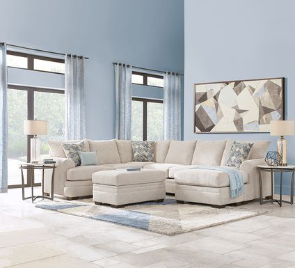 Copley Court Parchment 3 Pc Sectional Living Room