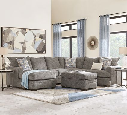 Copley Court Pewter 2 Pc Sectional