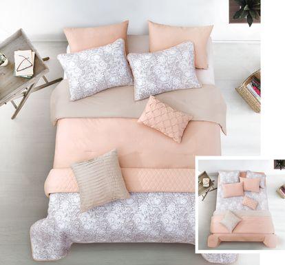 Coralia Blush 8 Pc King Comforter Set
