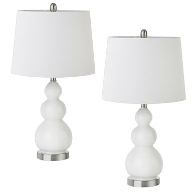Coralvine White Lamp, Set of 2