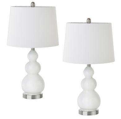 Coralvine White Lamp, Set of 2