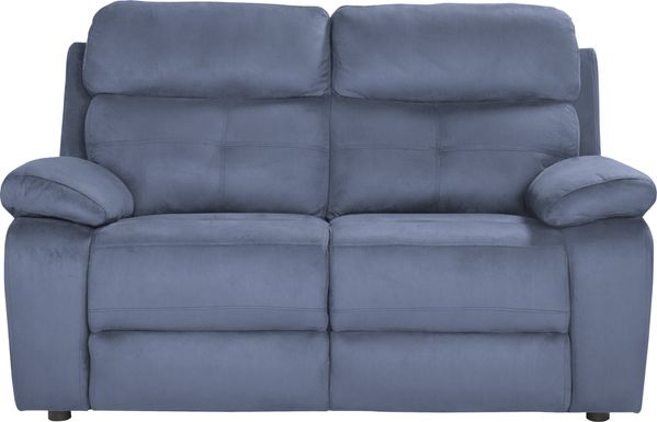Corinne Blue Loveseat
