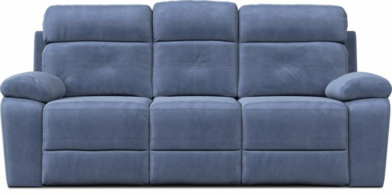 Corinne Blue Reclining Sofa