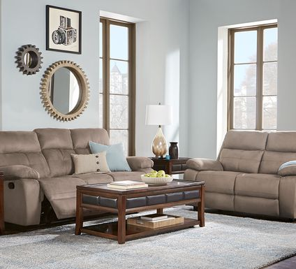 Corinne Stone 3 Pc Living Room with Reclining Sofa