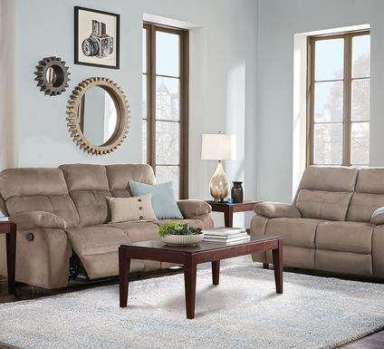 Corinne Stone 5 Pc Living Room with Reclining Sofa