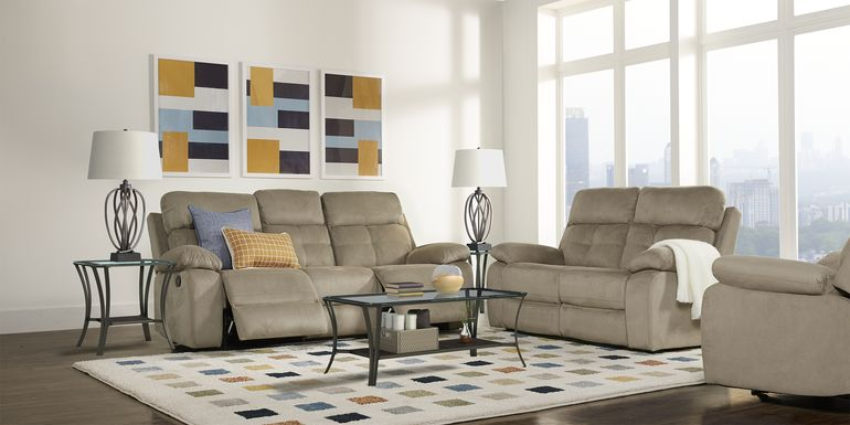 Corinne Stone 7 Pc Living Room with Reclining Sofa
