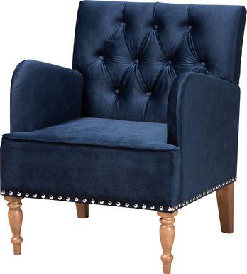 Corlandt Blue Accent Chair