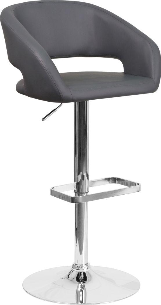 Corley Gray Ultrahyde Adjustable Swivel Barstool
