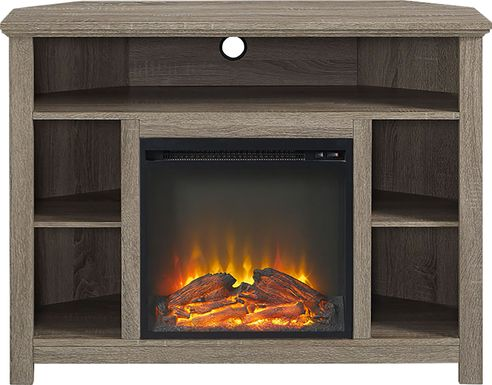 Corona Gray 44 in. Console with Electric Fireplace