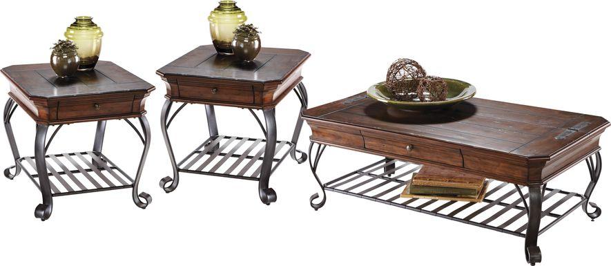 Coronado Bay Pine 3 Pc Table Set