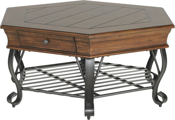 Coronado Bay Pine Hexagon Cocktail Table