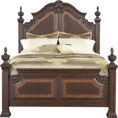 Cortinella Cherry 3 Pc Queen Poster Bed