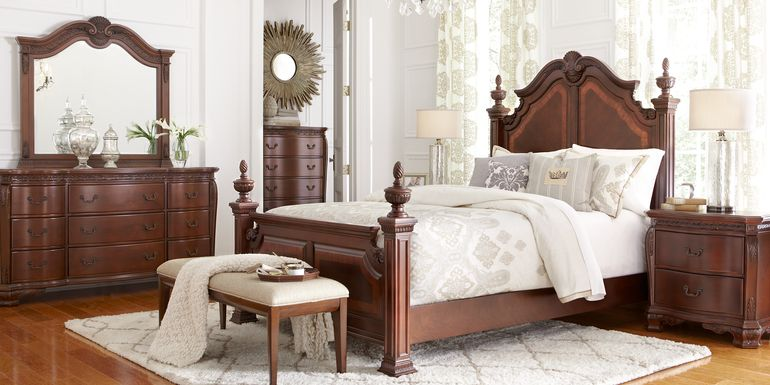 Cortinella Cherry 5 Pc King Poster Bedroom