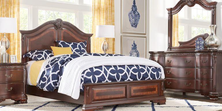 Cortinella Cherry 7 Pc King Panel Bedroom