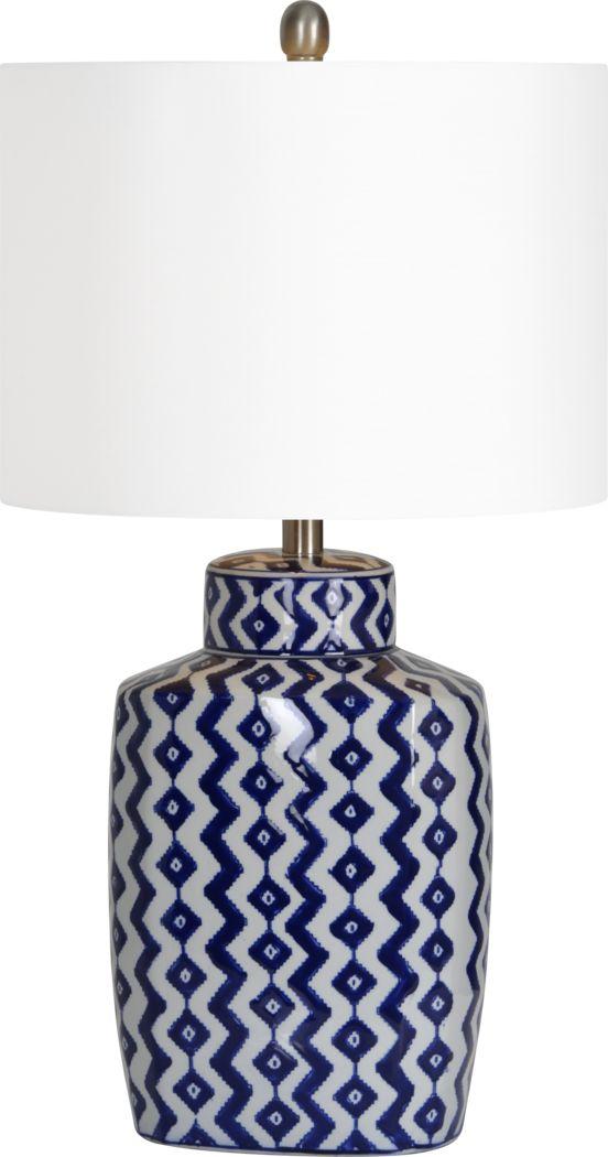Corwin Blue Lamp