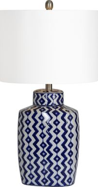 Corwin Blue Lamp