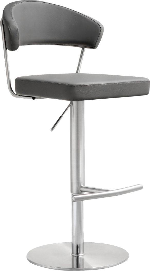 Cosmo Gray Adjustable Swivel Barstool