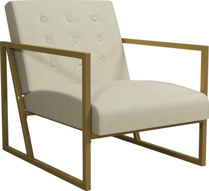 CosmoLiving Lexington Park Modern Chair Beige