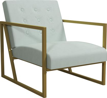CosmoLiving Lexington Park Modern Chair Teal