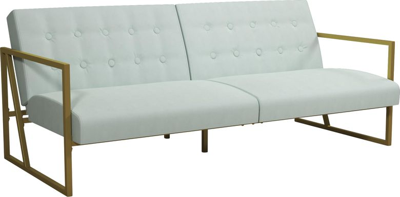 CosmoLiving Lexington Park Modern Futon Teal