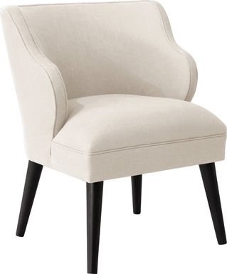 Cottage Charm Ivory Accent Chair