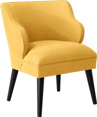Cottage Charm Yellow Accent Chair