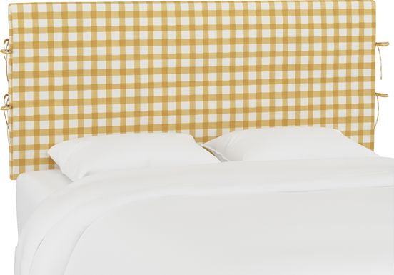 Kids Cottage Charm Yellow Full Upholstered Headboard