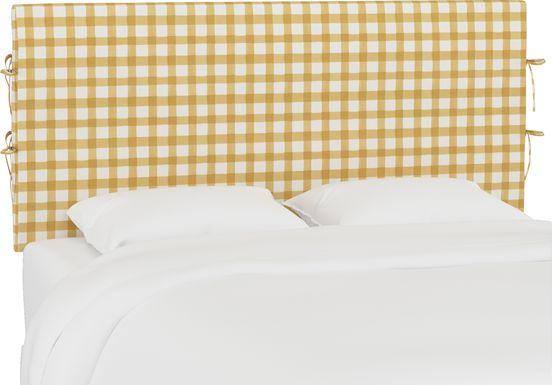 Kids Cottage Charm Yellow Full Upholstered Headboard