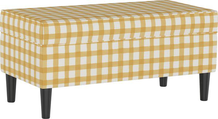 Cottage Charm Yellow Storage Bench