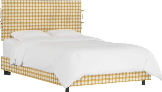 Kids Cottage Charm Yellow Twin Upholstered Bed