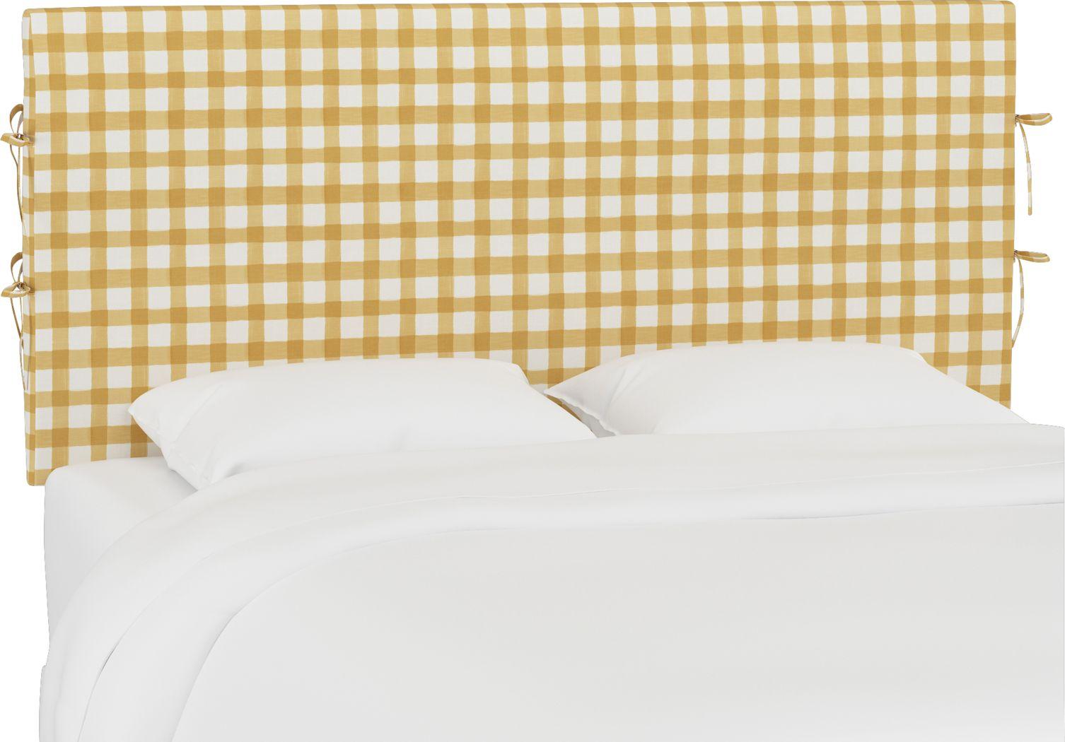 Kids Cottage Charm Yellow Twin Upholstered Headboard