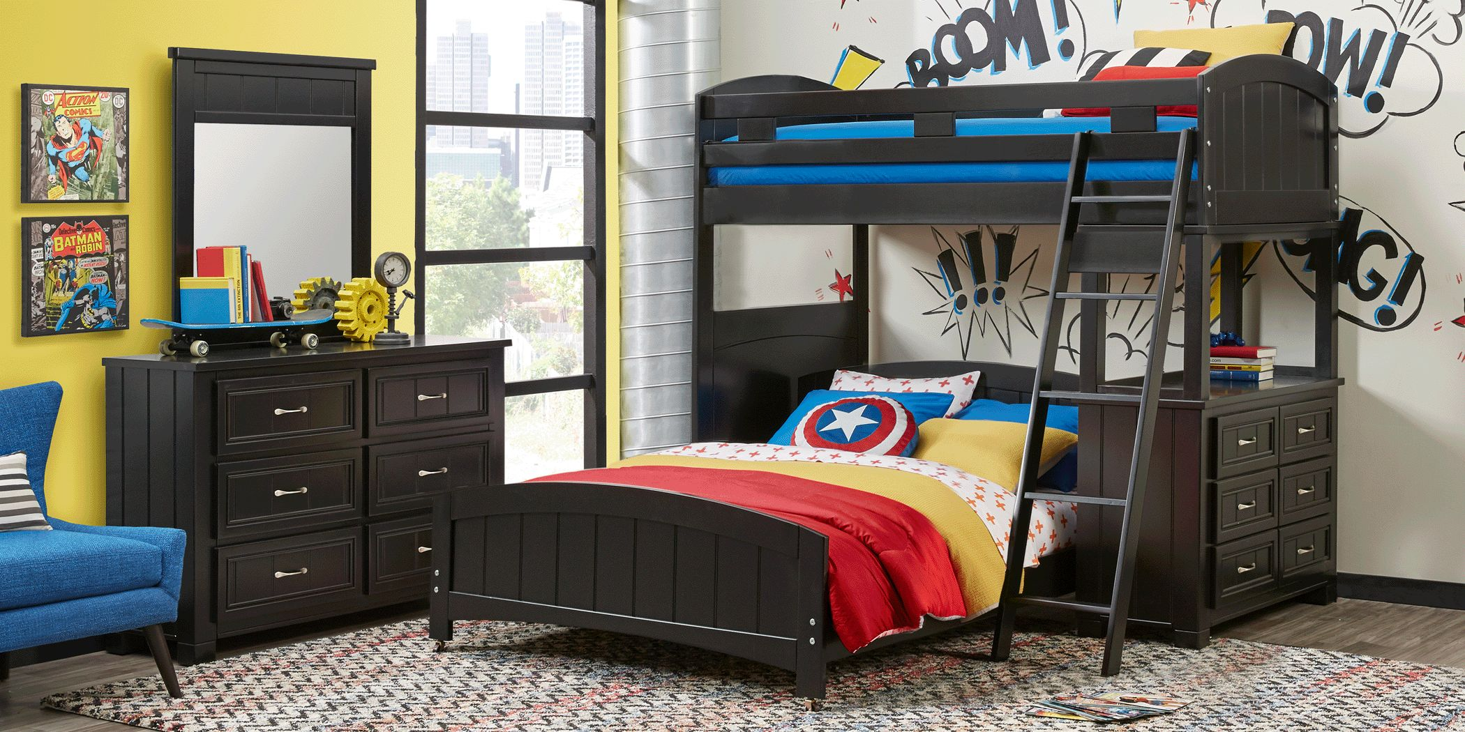 Picture of: Bunk Beds With Dresser