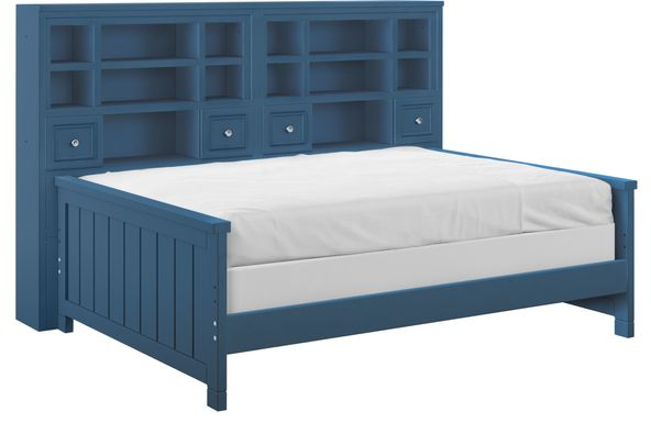 Cottage Colors Blue 5 Pc Full Bookcase Daybed