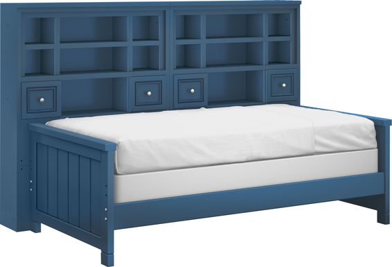 Cottage Colors Blue 5 Pc Twin Bookcase Daybed