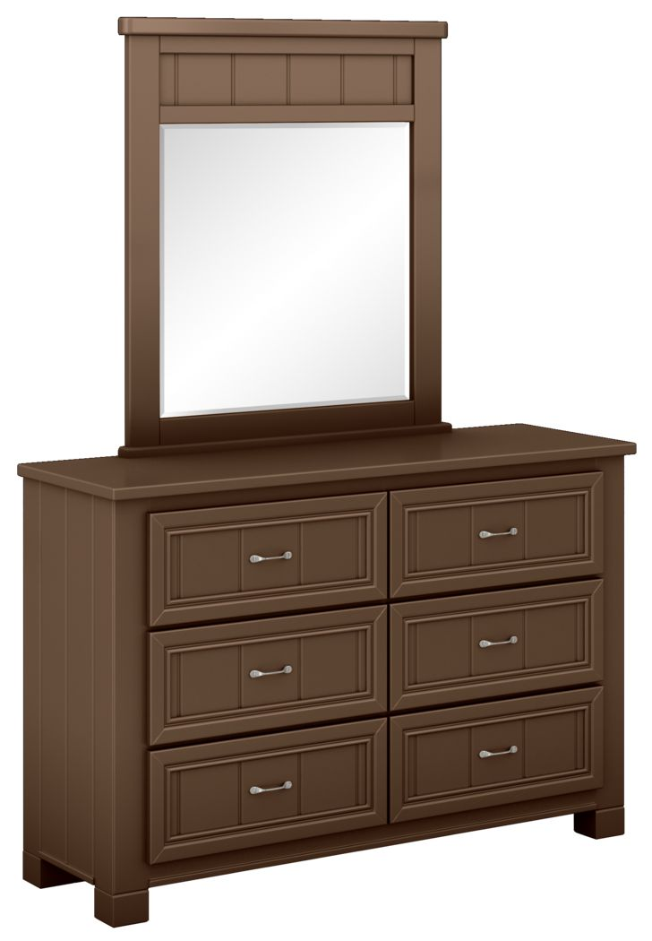 Kids Cottage Colors Chocolate Dresser & Mirror Set