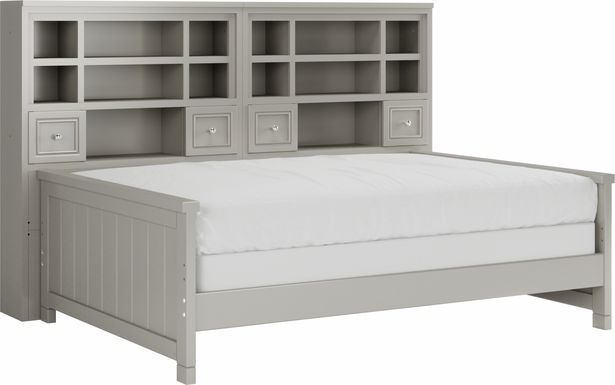 Cottage Colors Gray 5 Pc Full Bookcase Daybed