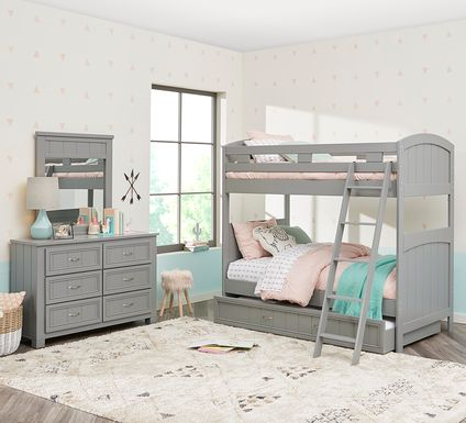 Cottage Colors Gray Twin/Twin Bunk Bed