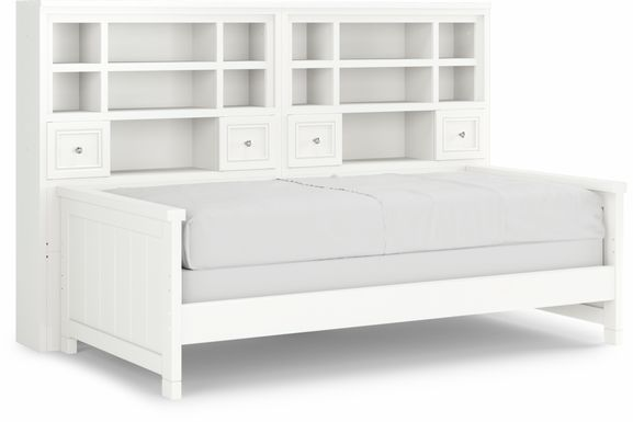Cottage Colors White 5 Pc Twin Bookcase Daybed