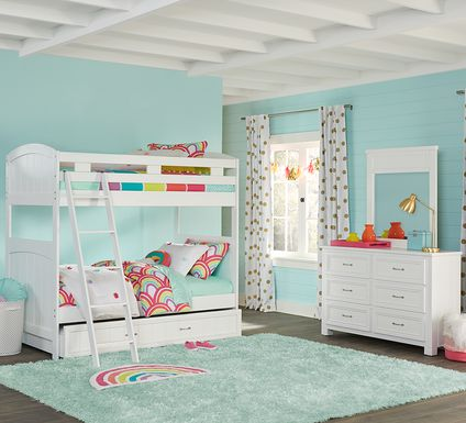 Cottage Colors White Twin/Twin Bunk Bed