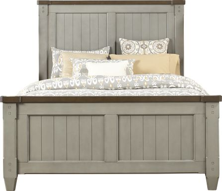 Cottage Town Gray 3 Pc Queen Panel Bed