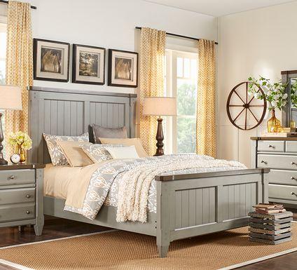 Cottage Town Gray 5 Pc Queen Panel Bedroom